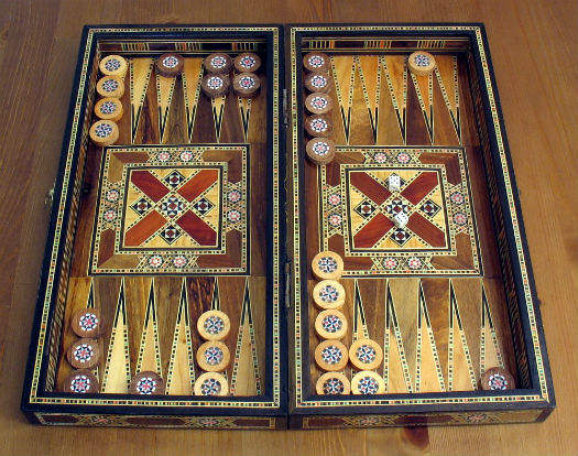 backgammon game in Iran