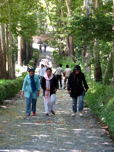 Dress Code in Iran: People in a Park