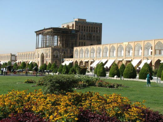 General View of Aliqapoo Palace in Imam Khomeini Square, Isfahan, Iran
