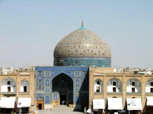 General View of Sheikh Lotfollah Mosque in Emam Khomeini Square, Isfahan, Iran