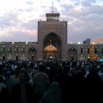 Courtyard of Imam Reza Shrine before Sunset