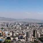 View of North Tehran & buildings