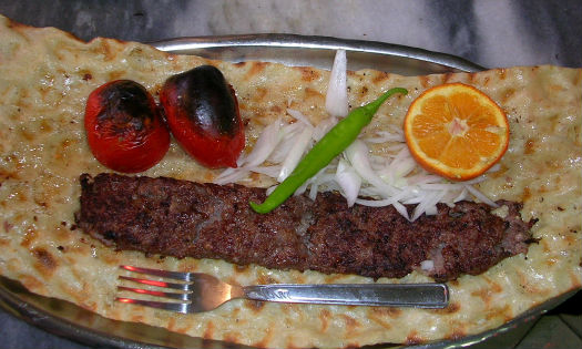 How to Serve Iranian kebab