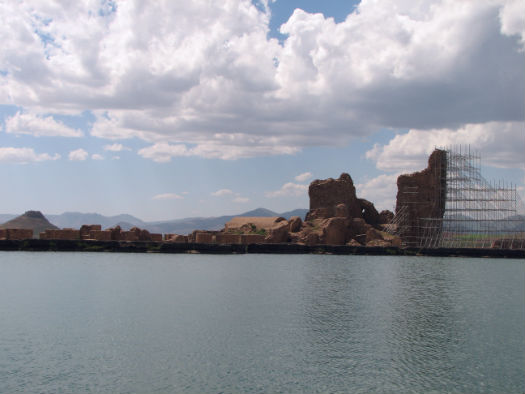 View of Takht-e Soleyman Lake