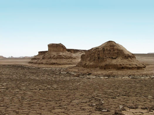 lut desert in South East of Iran