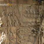 Detailed Sassanid reliefs Taq-e-Bostan