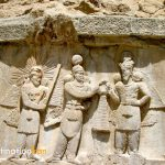 Sassanid reliefs at Taq-e-Bostan, Kermanshah