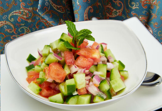 Shirazi salad, an Iranian appetizer
