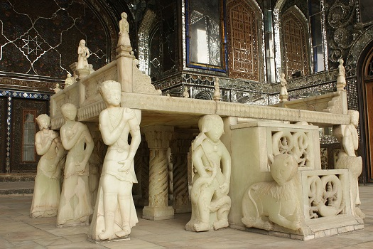 Marble Throne in Golestan palace Complex