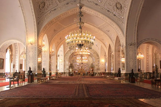 greeting hall in Golestan Palace Compound