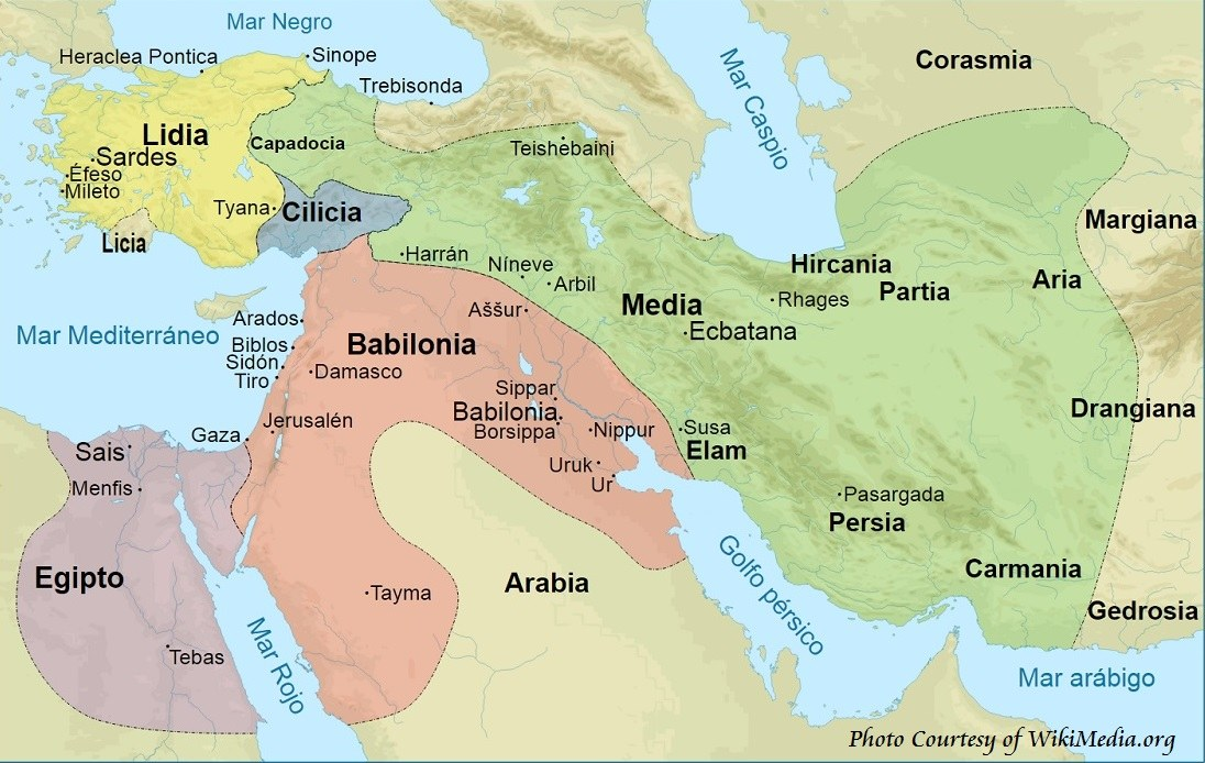 History of Medes on Map