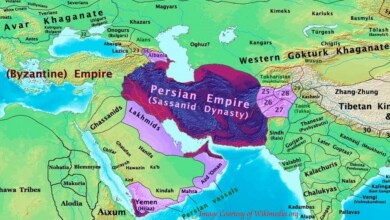 The History of Sassanians on Map