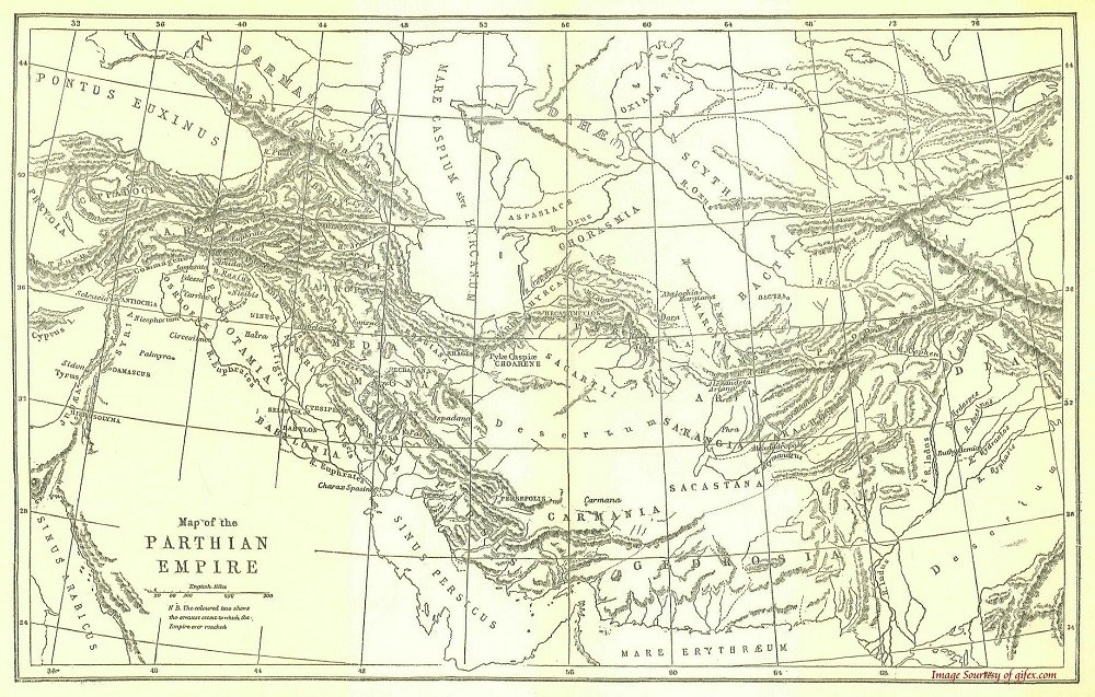History of Parthians on Map