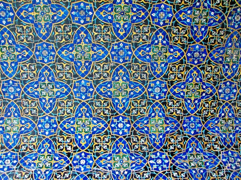 tileworks of atiq mosque in Isfahan