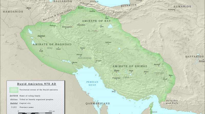 Map of the history of Buyids