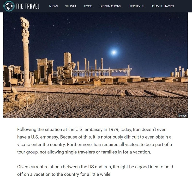 source of misinformation about Iran tourism