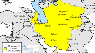Map of the History of Khwarezmians