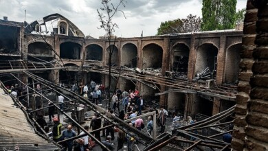 This is the result of the fire in Tabriz Bazaar!