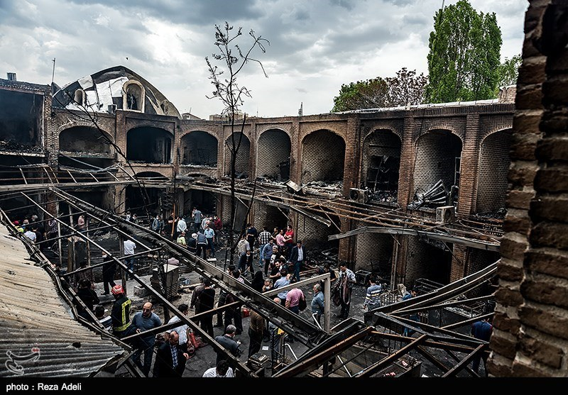 Tabriz Bazaar Fire Destruction