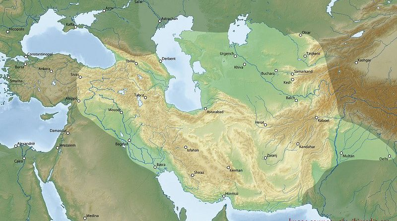 History of Timurids on map