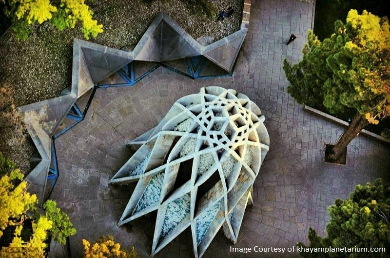 Tomb of Omar Khayyam from above