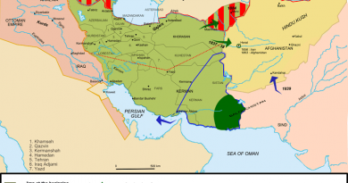 History of Qajars on a Map