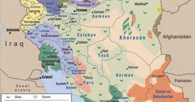 Map of Iran during the History of Pahlavis