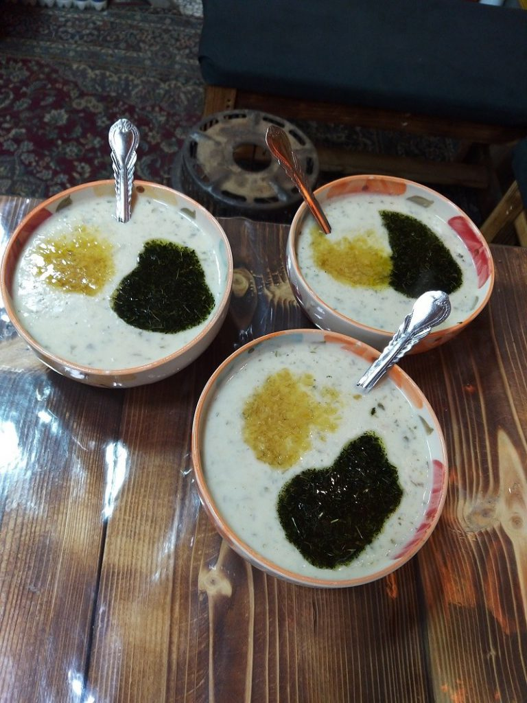 Food served in local Cafes of Masuleh historical village