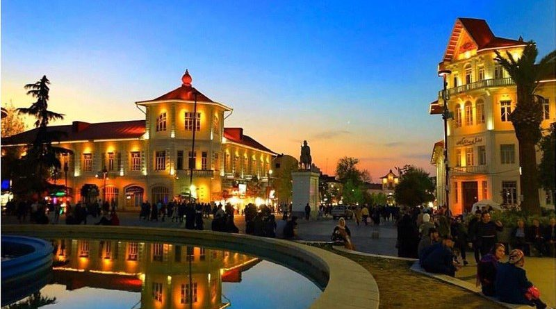 Rasht Tourist Attractions: Shahrdari Square