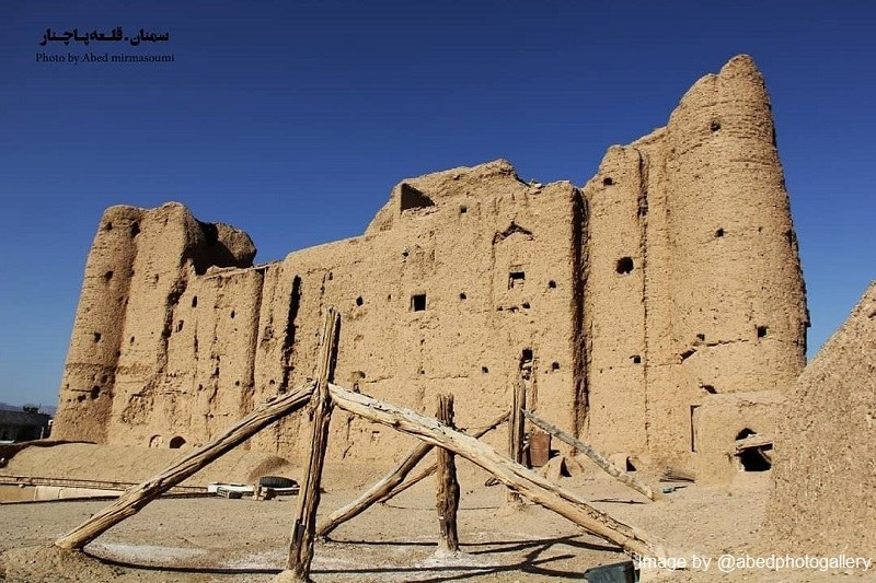 Semnan Historical Attractions outside the city: Pachenar Castle